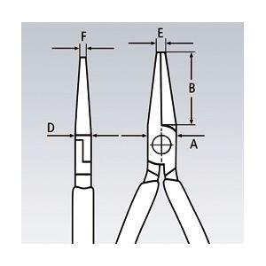 KNIPEX(クニペックス)3452-130ESD 精密プライヤー 丸 クロスメッシュ