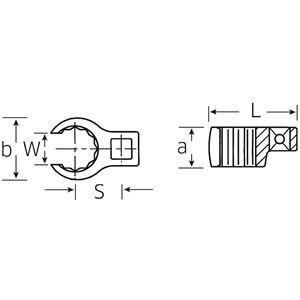 STAHLWILLE(スタビレー) 440-11 (1/4SQ)クローリングスパナ (01190011)
