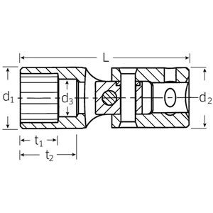 STAHLWILLE(スタビレー) 402-8 (1/4SQ)ユニフレックスソケット (01140008)