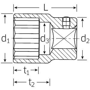 STAHLWILLE(スタビレー) 55A-1.1/16 (3/4SQ)ソケット (12角) (05410050)