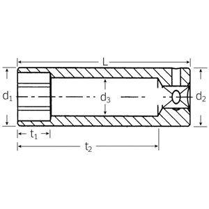 STAHLWILLE(スタビレー) 40L-5 (1/4SQ)ディープソケット (6角) (01020005)