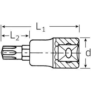 STAHLWILLE(スタビレー) 54CV-M12 (1/2SQ)スプラインビットソケット(03090012)