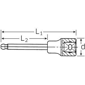 STAHLWILLE(スタビレー) 54KK-8 (1/2SQ)ボールインヘックスソケット (03280008)