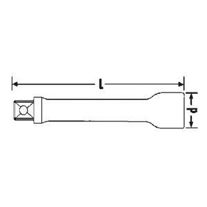 STAHLWILLE(スタビレー) 509/2QR (1/2SQ)エキステンションバー52MM(13011001)