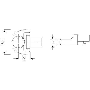 STAHLWILLE(スタビレー) 731/10-16 トルクレンチ差替ヘッド(スパナ)(58211016)