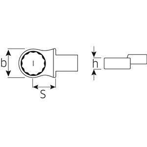 STAHLWILLE(スタビレー) 732/10-17 トルクレンチ差替ヘッド(メガネ)(58221017)