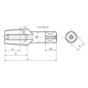 イシハシ精工 管用タップ テーパーネジSKS PT 1/4-19