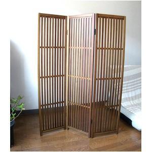 趣スクリーン 3曲 日本製 伝統工芸職人技術 木製 屏風 衝立【代引不可】