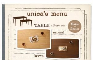 ダイニングセット 5点セット【B】(テーブル幅150+カバーリングチェア×4)【unica】【テーブル】ブラウン 【チェア4脚】アイボリー 天然木