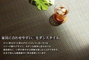 純国産 シンプルモダンい草ラグカーペット『Fルーツ』 グリーン 190×190cm