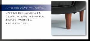 ソファー【Esta】ブラウン リクライニングカウチソファ【Esta】エスタ レザータイプ【代引不可】