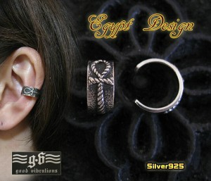 【GV】エジプトクロスのイヤーカフ/アンクシルバー925銀送料無料