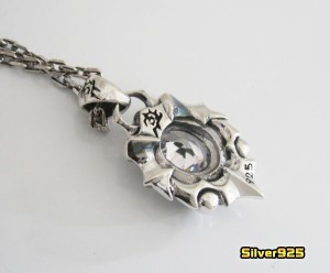 【DB】ストーンペンダント(4)CZ/シルバー925製ペンダント爪【メイン】送料無料