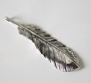 フェザーペンダント(26)左/(メイン)シルバー925 銀製メンズ・レディース ネックレス フェザー 鳥 パーツ 動物送料無料