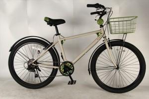 AIRWALK 自転車 ファットバイク  外装6段ギア カフェ アイボリー 街乗りに最適 MTB BMX 自転車 26インチ 送料無料 AIRWALK エアウォーク