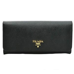 プラダ PRADA 型押しカーフスキン 二つ折り長財布 1MH132 QWA 002