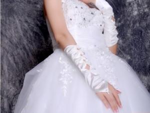 【即納】ウエディングドレス.パーティードレス.二次会ドレス.フィンガーレスグローブ  ブライズメイド    (メール便限定送料無料