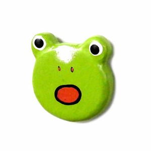 木製 カエル マグネット びっくり顔のカエル君 エスニック バリ アジアン アジアン雑貨