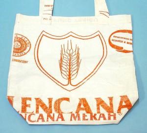 米袋のエコバッグ 小 ECO BAG こめ袋バック エスニック バリ雑貨 アジアン雑貨