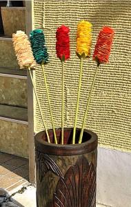 インテリア アート プランツ お花 グリーン [H.90cm] アジアン雑貨 バリ雑貨 装飾 造花 エクステリア 花 緑