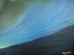 バリアート絵画特大横『Big Wave in Sunset』WindySpecial Order作品[額横約134cmx縦63cm] アジアン雑貨 バリ雑貨 タイ雑貨