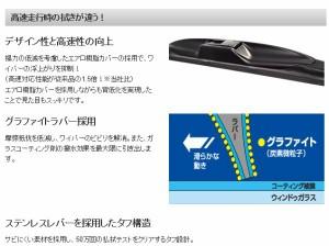 NWB グラファイトデザイン雪用ワイパー 450mm トヨタ IQ 助手席 左側用 D45W *ワイパーブレード*