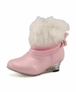 Figliola(フィリオーラ) キッズ ライトアップファーブーツ【光る靴】 FL-2130 ピンク