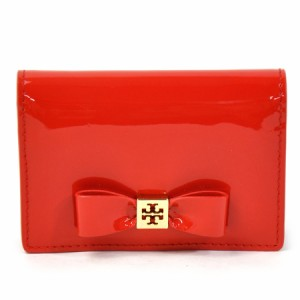 【定番人気】【中古】トリーバーチ カードケース 名刺入れ   レディース レッド y12030