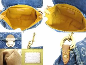 【おすすめ】【中古】ルイヴィトン バッグ ミニプリーティ モノグラムデニム レディース ブルー x ゴールド金具 e28950