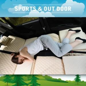 ムーヴ マット LA150S/LA160S系 車中泊マットレス フルフラットの段差解消 旅行 ベッド 人気内装カー用品 (4個:ブラック)