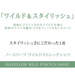 BUZZ WEAR [バズ ウェア] タンクトップ Tシャツ メンズ ストレッチ カットソー 長袖 Uネック プリント ノースリーブ トップス お兄系