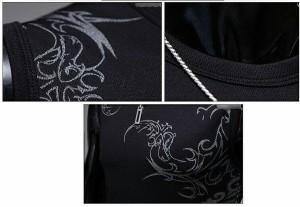 送料無料 サイズ・カラー選べる 3枚セット タンクトップ メンズ クルーネック Tシャツ プリント スリム 細身 カジュアル hit_d