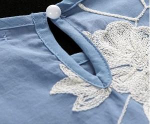 送料無料 サイズ・カラー選べる 2枚セット ブラウス レディース プルオーバー 半袖 五分袖 チュニック 花柄 レース ミニワンピ かわいい