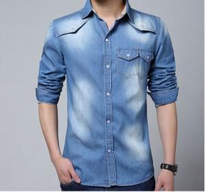 送料無料 サイズ・カラー選べる 2枚セット 大きいサイズ デニムシャツ メンズ 長袖 カジュアル スリム 細身シャツ シャツ hit_d