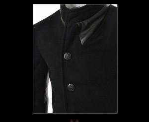 送料無料 コート メンズ 長袖 シングル風 無地 モノトーン ショートコート ジャケットコート 細身 きれいめ カジュアル hit_d
