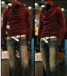 3000円以上送料無料 サイズ・カラー選べる 2枚セット パーカー メンズ 長袖 カットソー アフガンネック フード付き 無地 カジュアル