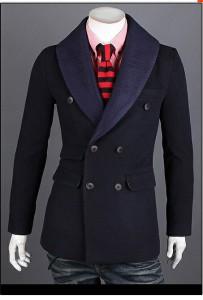 送料無料 コート メンズ コート 長袖 ジャケット ダブル ショールカラー 無地 細身 きれいめ カジュアル ビジネス アウター hit_d