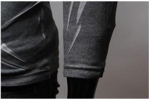 送料無料 カットソー メンズ 長袖 Vネック 絞デザイン 細身 きれいめ カジュアル インナー ジャケットイン お兄系 トップス hit_d