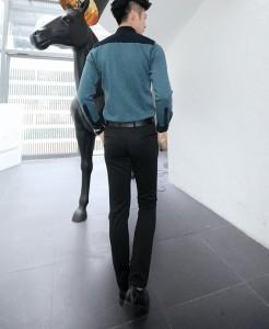 送料無料 カジュアルシャツ メンズ 長袖 バイカラー 切替 カットソーシャツ 羽織 シャツジャケット 細身 きれいめ カジュアル hit_d