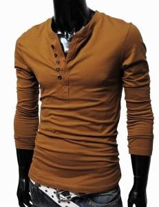 送料無料 Tシャツ 長袖 ヘンリーネックTシャツ 無地Tシャツ インナーTシャツ ボタンTシャツ シンプルTシャツ オーソドックスTシャツ