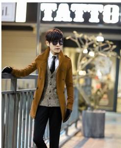 送料無料 ハーフコート メンズ コート 細身 メンズファッション アウター コート ジャケット テーラード スタンドカラー hit_d