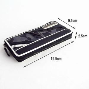 長財布 メンズ カモフラ&型押しメッシュ 切替 カラーPU メンズ財布 小銭入れあり ウォレット 札入れ 小銭入れ 3000円以上送料無料