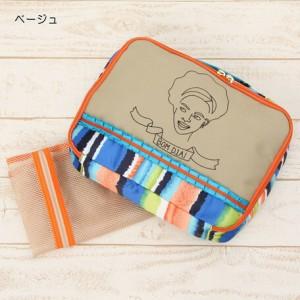 ポーチ レディース バッグ eleu Face 刺繍 下着ケース レディースバッグ アクセサリーポーチ コーデ 3000円以上送料無料