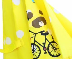 傘 キッズ 雨具 入園準備 子供傘 くまのがっこう 水玉総柄生地 子供服 洋品