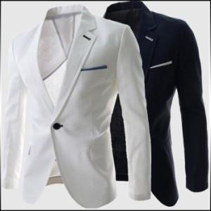 サイズ・カラー選べる 3枚セット テーラードジャケット メンズ アウター ジャケット テーラード ワンボタン 3000円以上送料無料
