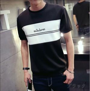 サイズ・カラー選べる 3枚セット カットソー メンズ トップス 半袖 Tシャツ トレーナー クルーネック ロゴ 3000円以上送料無料