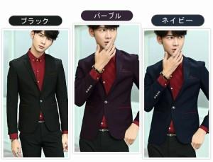 テーラードジャケット メンズ アウター ジャケット テーラード シングル ワンボタン 無地 シック ブレザー 細身 3000円以上送料無料