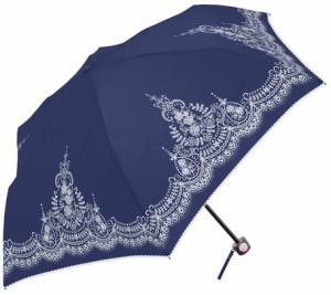 傘 レディース 晴雨兼用 折畳み傘 レースパターン PUコーティング 50cm 軽量 楽々 ミニ UV対策 ファッション雑貨 3000円以上送料無料