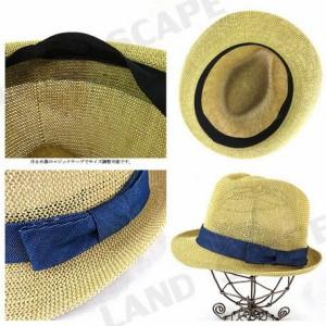 ハット メンズ 小物 帽子 デニム リボン 細編み 男性用 3000円以上送料無料