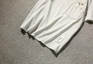 3000円以上送料無料 Tシャツ メンズ トップス シャツ クルーネック 刺繍 猫 胸ポケット シンプル カジュアル キレイめ ゆったり 大きいサ